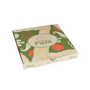 Pizzakartong Papstar Pure Cellulose Kantig 24x24x3cm 100st
