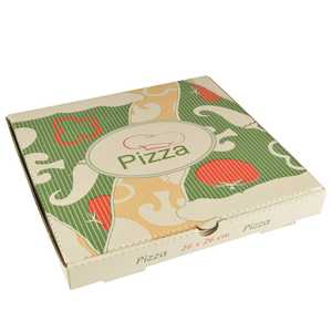 Pizzakartong Papstar Pure Cellulose Kantig 26x26x3cm 100st