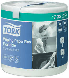 Industripapper Tork Avtorkning Plus Advanced Vit 6st