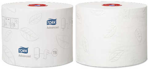 Toalettpapper Tork Mid Size Advanced T6 Vit 27st