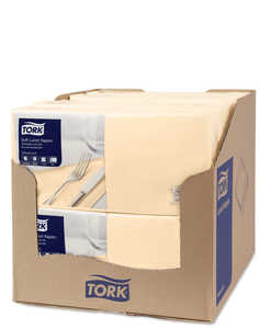 Lunchservett Tork Mjuk Advanced Sand 33x33cm 1500st